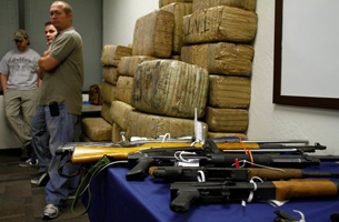 Guns and Drugs Seized from Mexican Drug Cartel